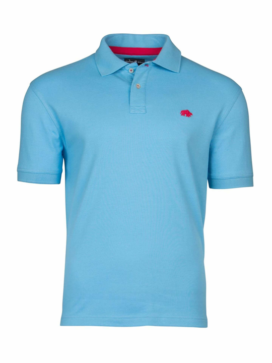 high quality sky blue polo shirt