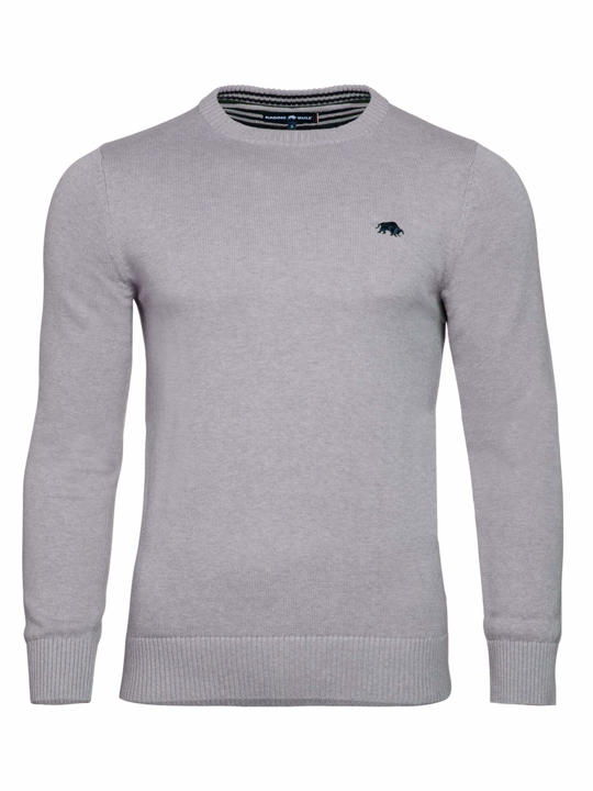 high quality grey crew neck jumper