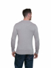 Raging Bull Big & Tall - Crew Neck Cotton/Cashmere Jumper - Grey Marl