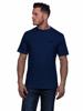 Model wearing High quality navy t-shirt