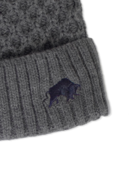 Raging Bull - Cable Knit Beanie - Charcoal