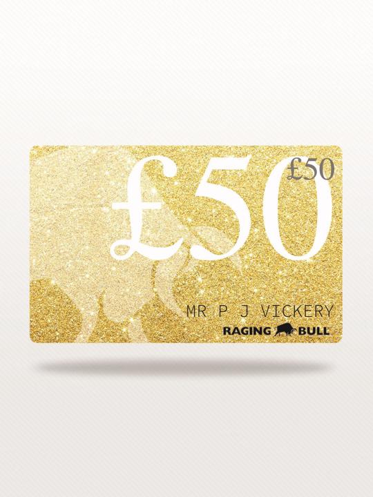 Raging Bull - £50 e-Gift Card