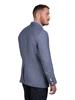 Raging Bull Linen Check Blazer - Mid Blue