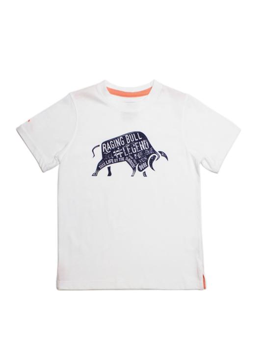 Raging Bull Word Bull Tee - White