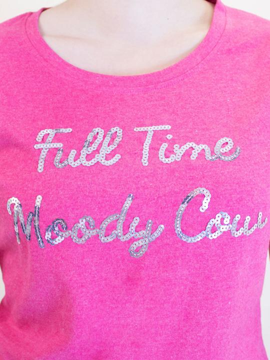 Raging Bull - Full Time Moody Cow Tee - Vivid Pink
