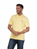 model wearing high quality yellow polo shirt