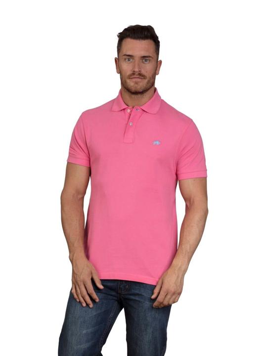 high quality pink polo shirt