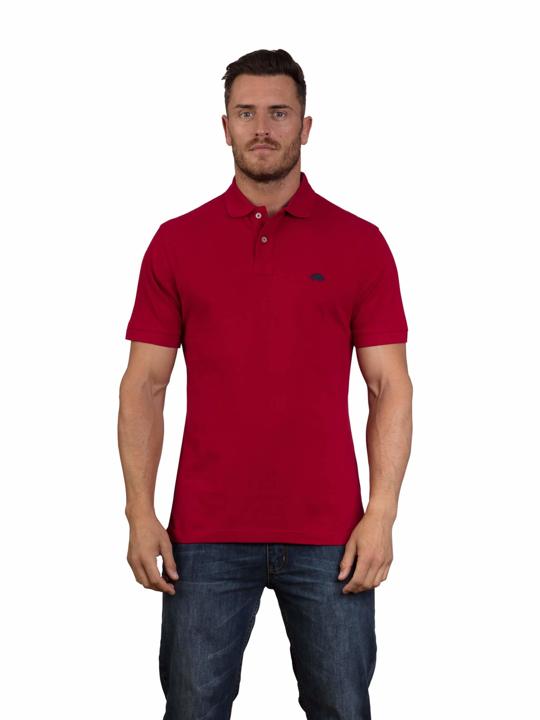 high quality red polo shirt