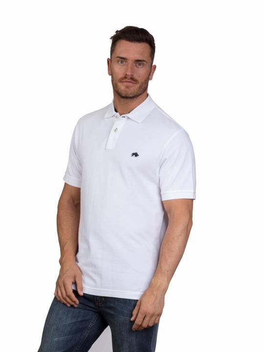 high quality white polo shirt