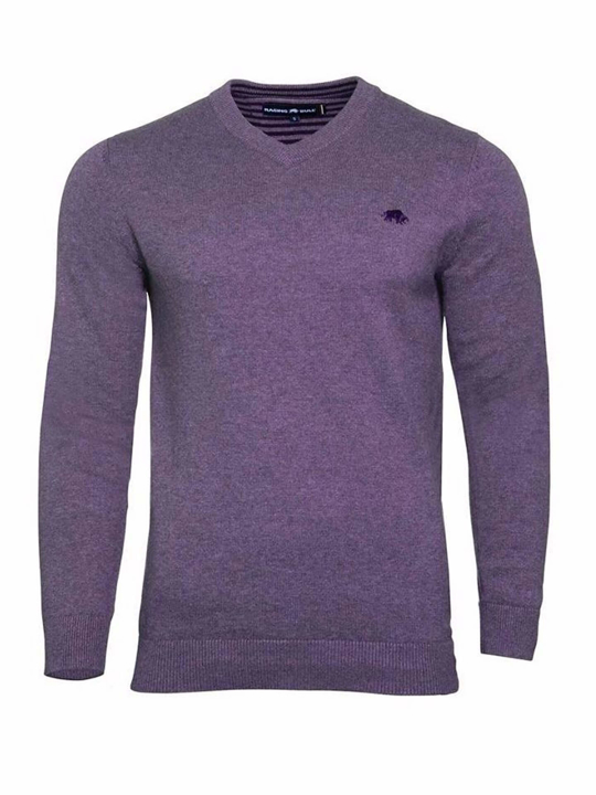 high quality purple v-neck jumper