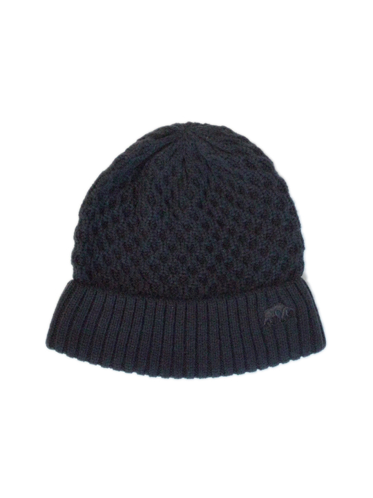 Raging Bull Cable Knit Beanie - Navy