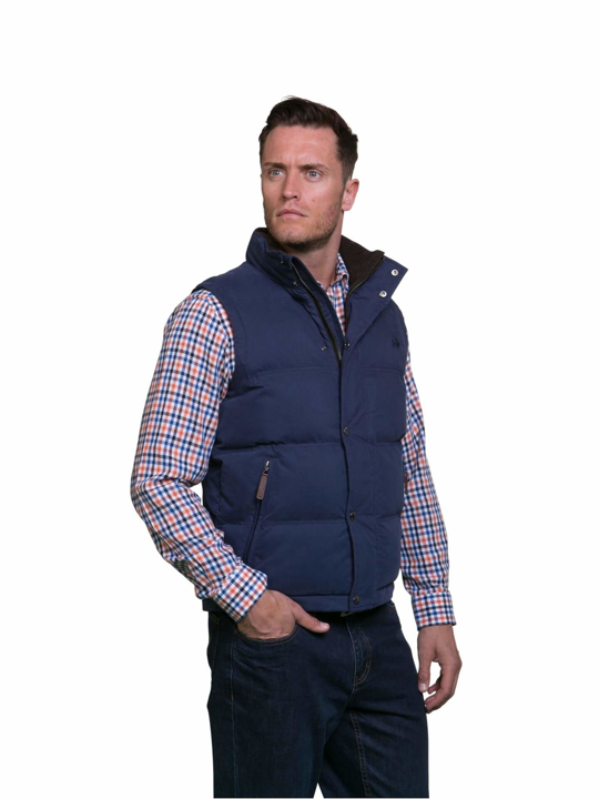 high quality blue gilet