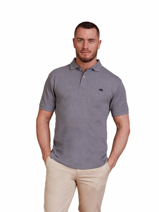 high quality grey polo shirt