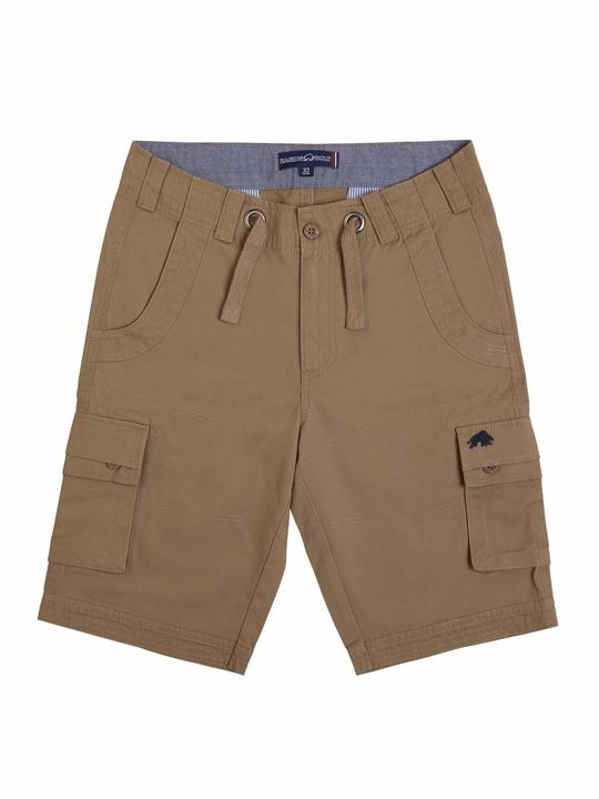 high quality beige cargo shorts