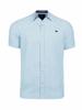 Raging Bull Big & Tall - Short Sleeve Linen Look Gingham Shirt - Sky Blue