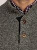 Raging Bull Big & Tall - Salt & Pepper Button Knit - Charcoal
