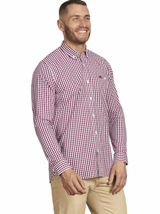 Raging Bull - Long Sleeve Signature Gingham Shirt - Purple