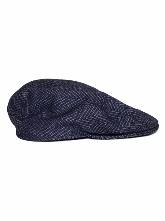 Raging Bull - Flat Cap - Grey Marl/Navy