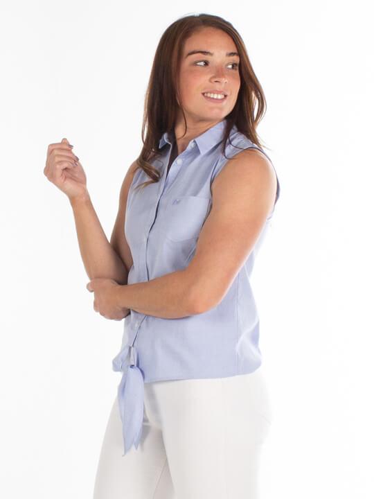Raging Bull - Oxford Sleeveless Shirt - Chambray