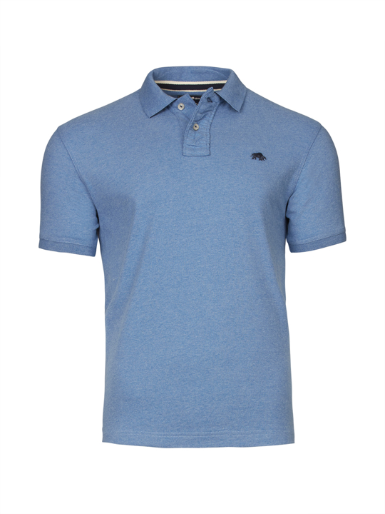 Raging Bull Big & Tall - Signature Jersey Polo - Mid Blue