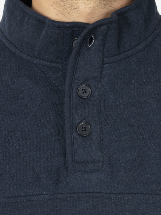 Raging Bull - Signature Button Jersey Sweat - Navy