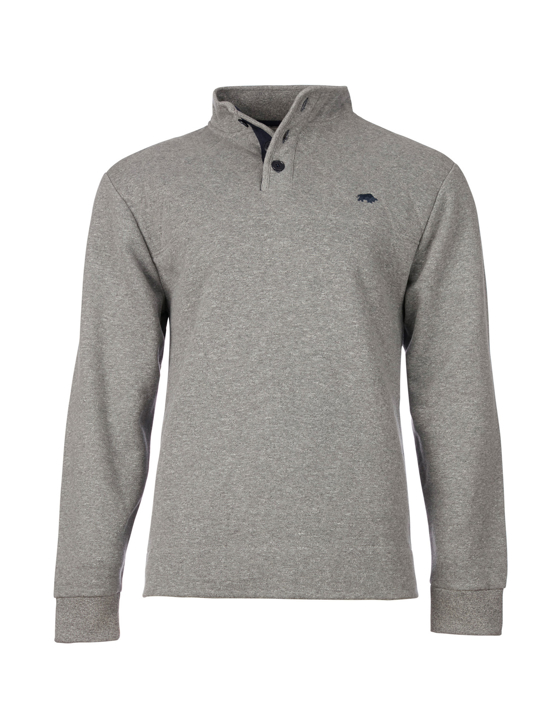 Raging Bull - Big & Tall - Signature Button Jersey Sweat - Grey
