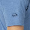 Raging Bull Embroidered Bull Tee - Denim Blue