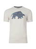 Raging Bull Embroidered Bull Tee - Grey Marl