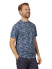 Raging Bull Big & Tall Leaf Print T-Shirt - Navy