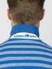 Raging Bull Birdseye Stripe Polo - Cobalt Blue