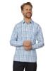 Raging Bull Big & Tall Long Sleeve Check Shirt - Sky Blue