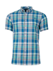 Raging Bull Short Sleeve Madras Check Shirt - Mint