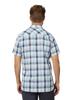 Raging Bull Big & Tall Short Sleeve Oversized Gingham Shirt - Navy