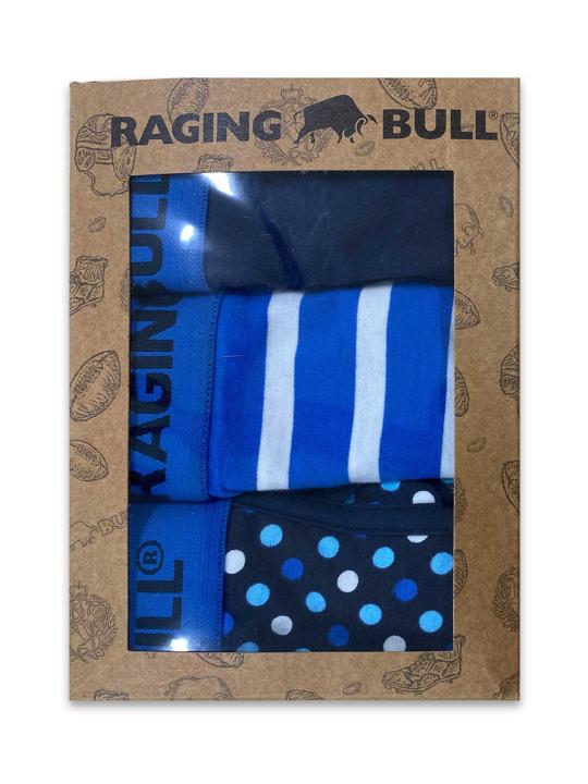 Raging Bull - Cotton Boxers Three Pack - Cobalt