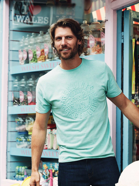 Raging Bull - Big & Tall Excellence Embossed Tee - Green