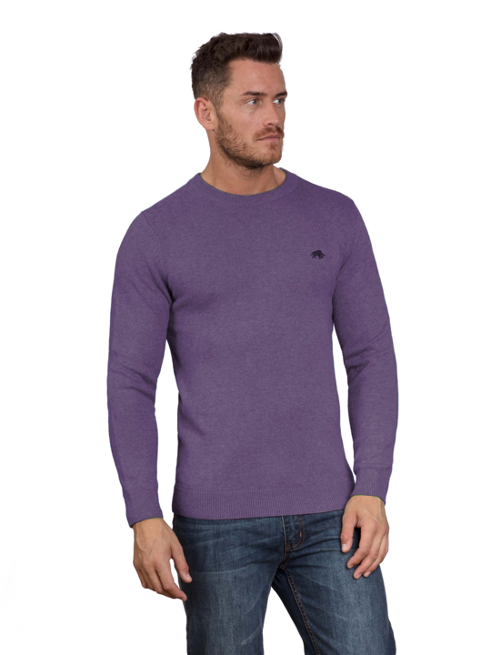 Raging Bull - Big & Tall Signature Lightweight Crew Neck - Purple