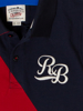 Raging Bull Contrast Panel Polo - Navy