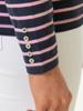 Raging Bull Long Sleeve Stripe Tee - Pink & Navy