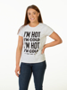 Raging Bull I'm Hot / I'm Cold Tee - White Fleck