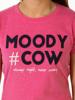 Raging Bull Moody Cow Hashtag Tee - Vivid Pink