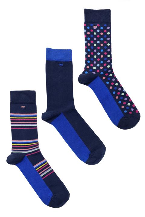Raging Bull - 3 Pack Socks - Cobalt Blue
