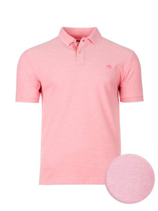 Raging Bull - Big & Tall Birdseye Pique Polo - Pink