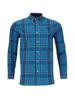 Raging Bull Long Sleeve Large Check Poplin Shirt - Navy