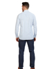 Raging Bull Long Sleeve Circle Geo Poplin Shirt - White