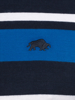 Raging Bull Irregular Stripe Jersey Polo - Cobalt