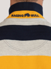 Raging Bull Irregular Stripe Jersey Polo - Navy