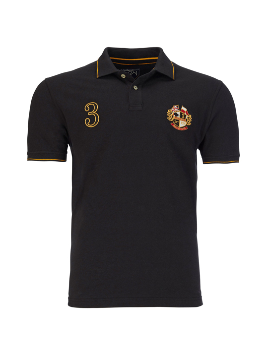 Raging Bull - Crest Pique Polo - Black