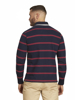Raging Bull Long Sleeve Stripe Rugby - Claret