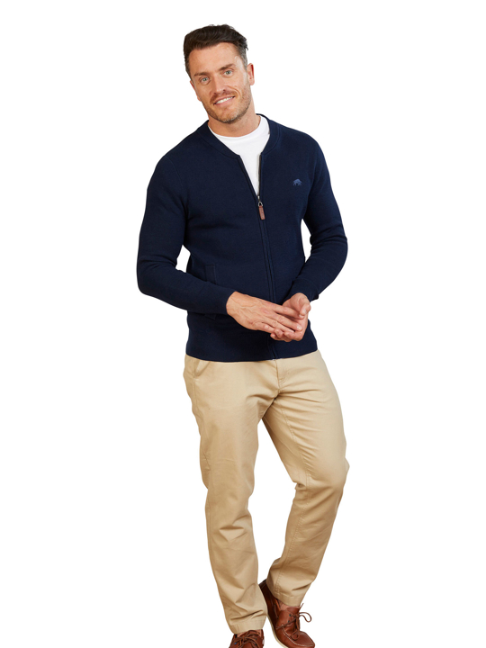 Raging Bull - Zip Thru Cardigan - Navy