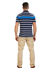 Raging Bull Big & Tall Irregular Stripe Jersey Polo - Cobalt